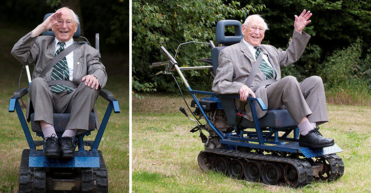 Second World War Hero Gets Incredible Wheelchair Built Like A Tank r5OgQPhMs