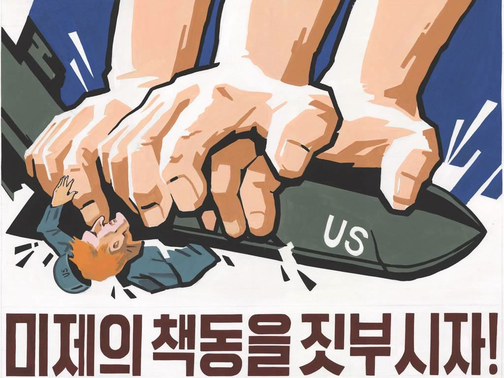 Rare North Korea Propoganda Posters Go On Display For First Time sP6h3UOvDnk poster 8.jpg