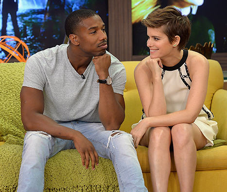 Fantastic Four Cast Handle Extremely Awkward Interview Like Pros tn4H8rmJW1438524849 michael b jordan kate mara racist sexist questions 1.jpg