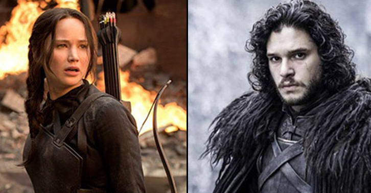 Katniss Everdeen Takes On Jon Snow In This Epic Hunger Game Of Thrones Clip trW0hICHRsnow fb.jpg