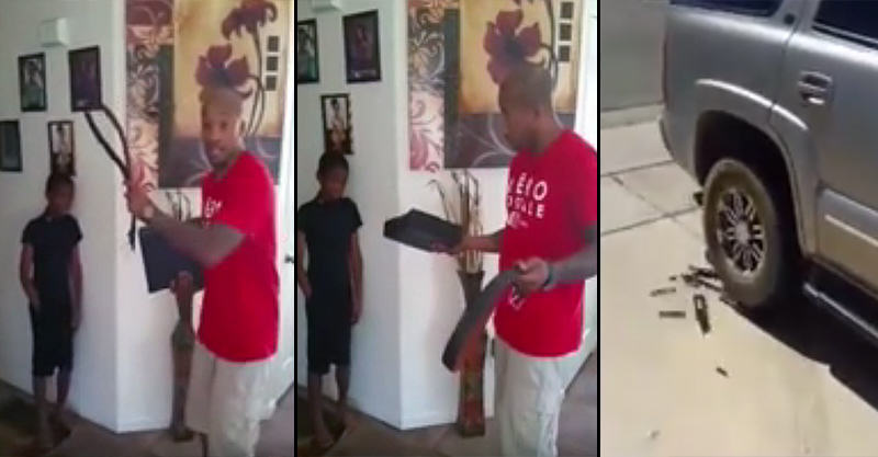 Pissed Off Dad Destroys Sons Xbox After Catching Him Stealing 16