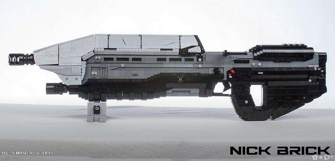 Life Sized Halo 5 Assault Rifle Stunningly Recreated With Lego 2940501 4