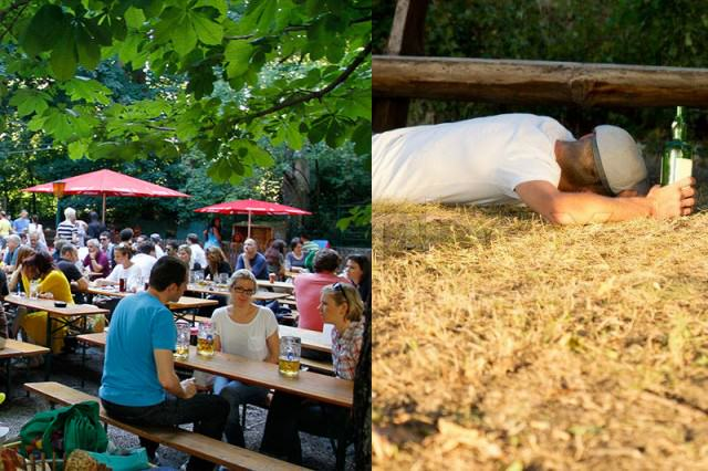 Guy Snorts Five Lines Of Coke, W*nks In Beer Garden, Police Not Happy 7496397 drunk man sleeping on the ground next to a bench copy 640x426