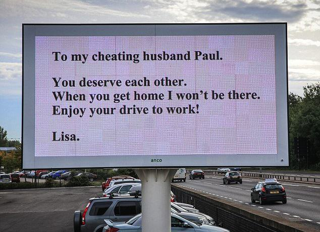 This Woman Chose To Dump Her Cheating Husband In Style Rossparry.co .ukTom Maddick