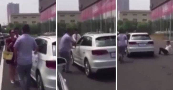 Stroppy Woman Steals Audi From Forecourt When Boyfriend Refuses To Buy It SM37