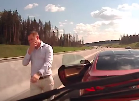 Moment BMW Driver Stops In Front Of Speeding Ambulance Screen Shot 2015 09 23 at 15.06.53