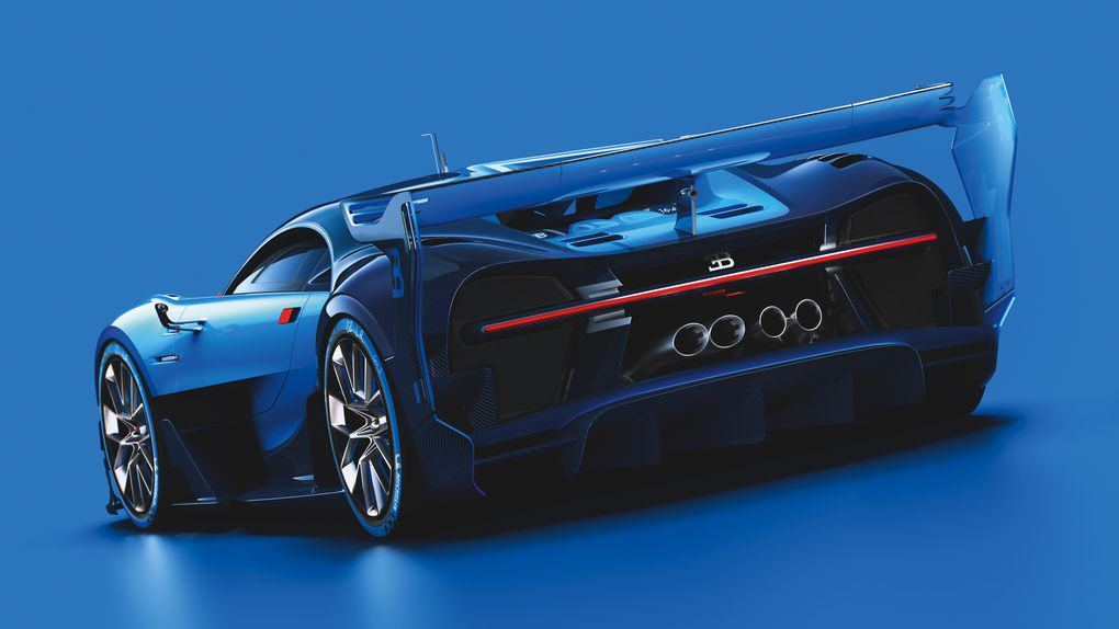 The New Car Bugatti Created For Gran Turismo 6 Is Achingly Beautiful UNILAD 04 Bugatti VGT ext 3 4 rear dyn CMYK high.06