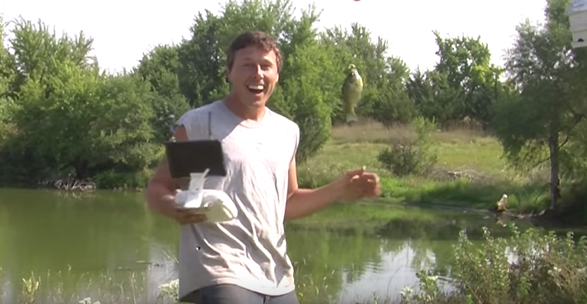 Watch This Guy Catch A Fish Using His Drone UNILAD 12
