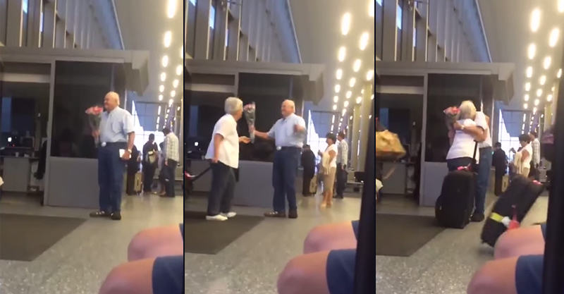 Video Of Old Man Waiting For His Wife At The Airport Is Going Viral UNILAD 134