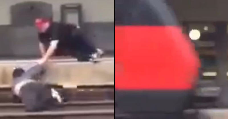 Mans Life Saved By Man Hes BRAWLING With At Train Station UNILAD 162