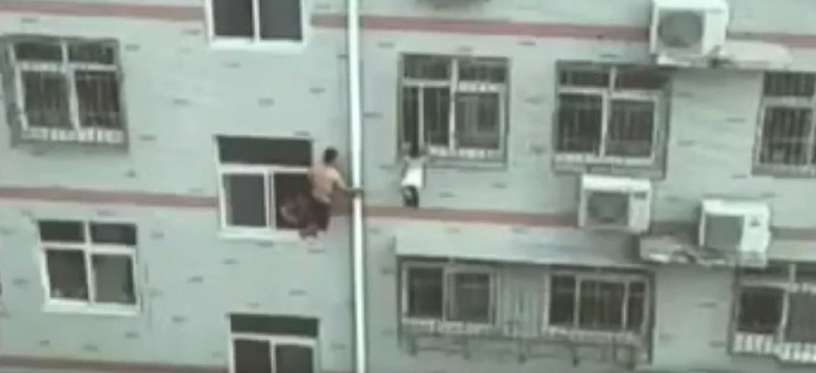 Man Saves Girl Hanging From Fourth Floor Windows Life With A Mop UNILAD Broom2