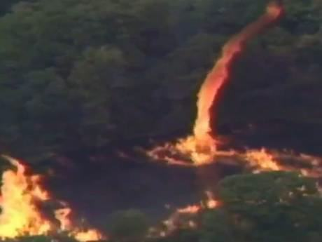 Firenado Breaks Out After Lightning Strikes Jim Beam Whiskey Factory UNILAD JimBeam38