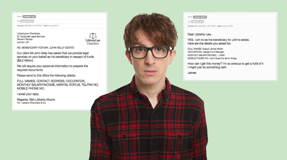 Comedian Responds To Spam Emails, Compiles Results Into Hilarious Book UNILAD Screen Shot 2015 09 06 at 21.33.442