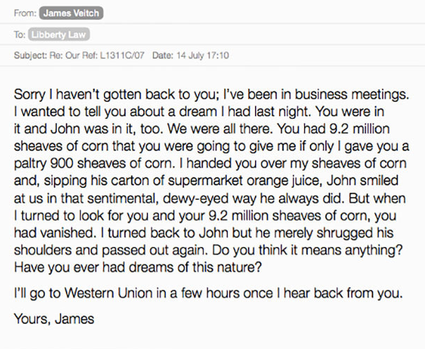 Comedian Responds To Spam Emails, Compiles Results Into Hilarious Book UNILAD Screen Shot 2015 09 06 at 21.52.228