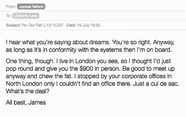 Comedian Responds To Spam Emails, Compiles Results Into Hilarious Book UNILAD Screen Shot 2015 09 06 at 21.52.393