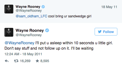 Wayne Rooneys Twitter Account Is An Absolute Goldmine UNILAD Screen Shot 2015 09 09 at 15.02.265