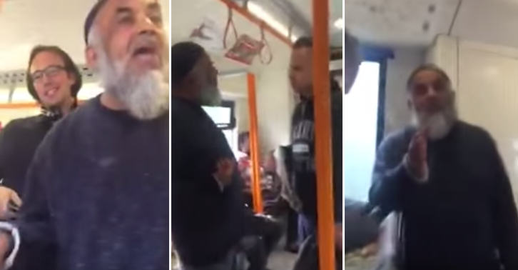 This Argument About Feet On A Train Seat Quickly Becomes One About Religion UNILAD TN163