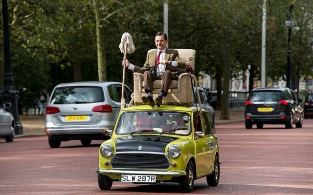 After Parading Around On His Car Mr Bean Gets Photoshopped
