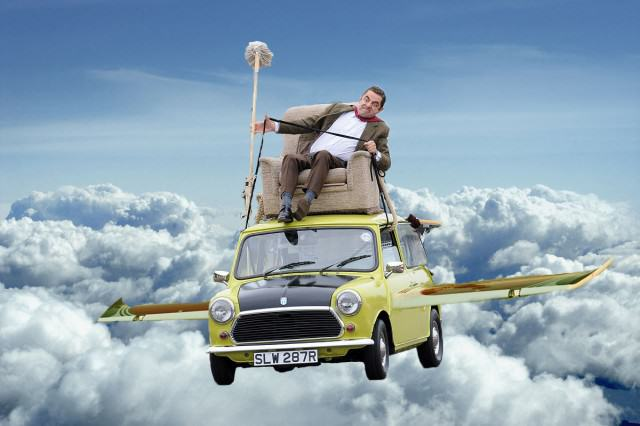 After Parading Around On His Car Mr Bean Gets Photoshopped UNILAD bean chitty chitty bean bang7 640x426