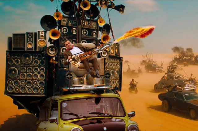 After Parading Around On His Car Mr Bean Gets Photoshopped UNILAD bean mad max8 640x426