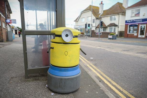 One Town Wakes Up And Sees All Their Bins Painted To Look Like Minions UNILAD binm151