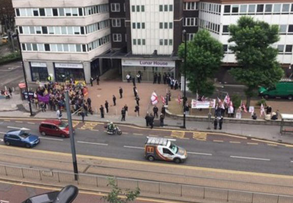 BNP Held A Rally In Croydon And No One Showed Up UNILAD bnp web2