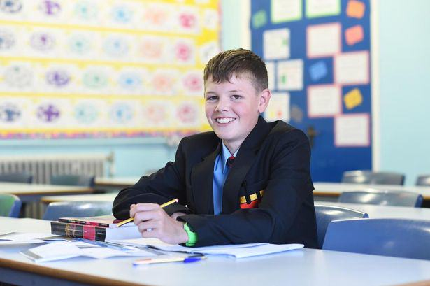 Brave Lad Beats TWO Types Of Cancer And Goes Back To School UNILAD can3