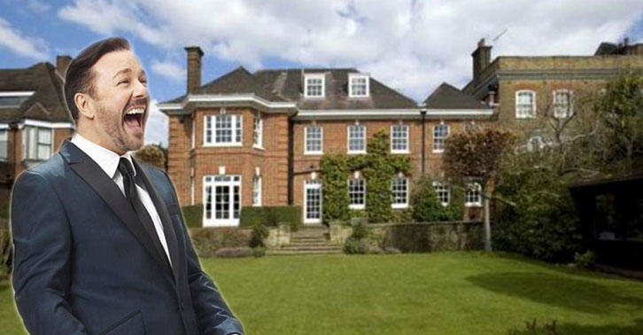 Heres A Glimpse Inside Ricky Gervais New £10Million London Mansion UNILAD gervais35