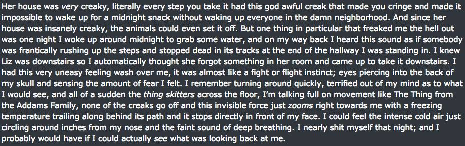 Reddit User Posts Really Creepy Experiences In Friend's