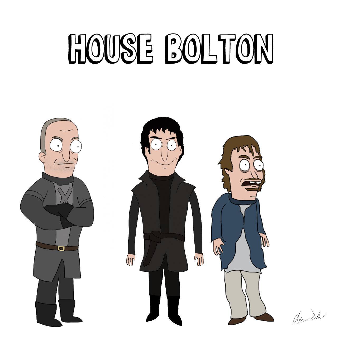 Someone Has Drawn Game Of Thrones Characters In The Style Of Bobs Burgers UNILAD house16
