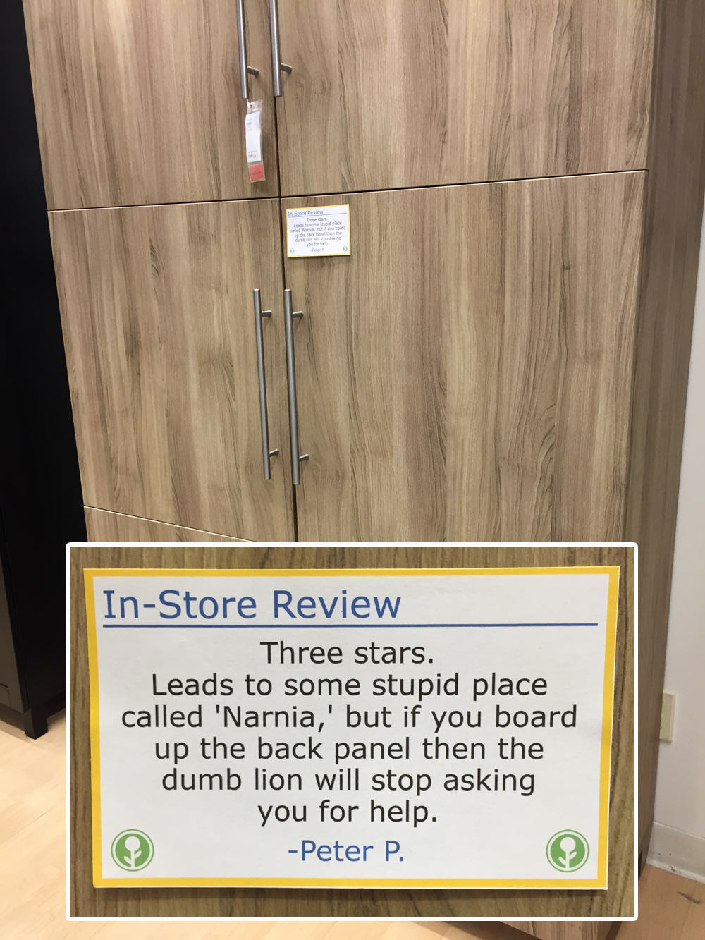 IKEA Has Been Trolled With Hilarious In Store Reviews UNILAD ikea83