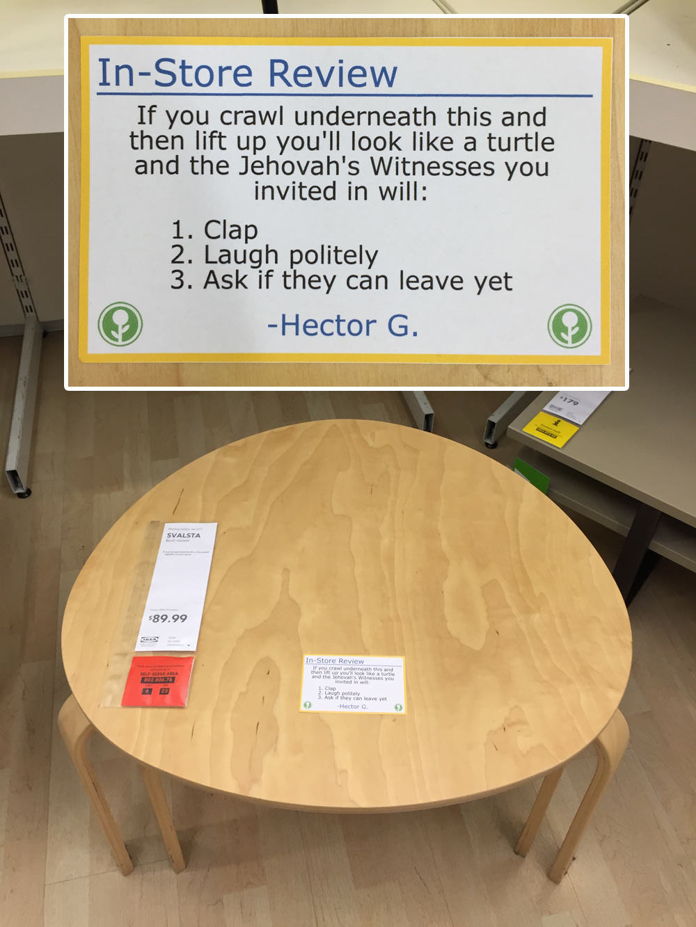 IKEA Has Been Trolled With Hilarious In Store Reviews UNILAD ikea93