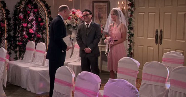New Set Photos Released Of Leonard And Pennys Wedding On The Big Bang Theory UNILAD leonard penny WEB 14
