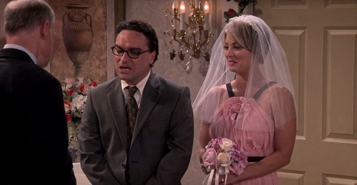 New Set Photos Released Of Leonard And Pennys Wedding On The Big Bang Theory UNILAD leonard penny WEB 35