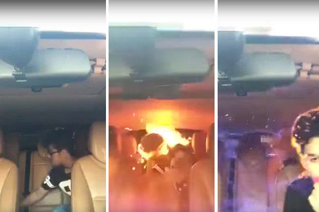 Car Explodes Setting Men On Fire After Using Laughing Gas UNILAD lgas6