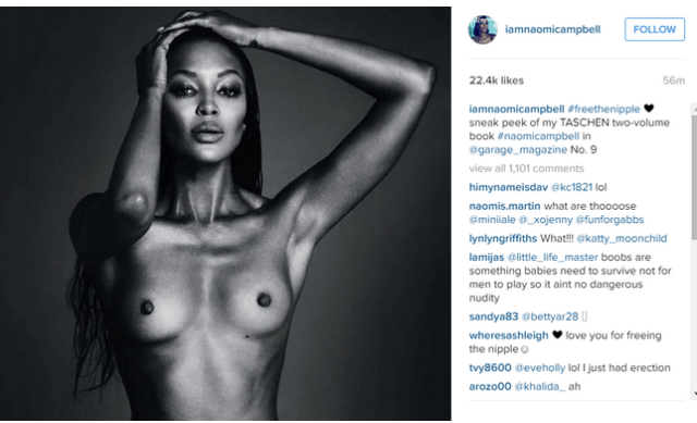 Naomi Campbell Shares Topless Photo Of Herself On Instagram To Fight Their NSFW Policy UNILAD naomi boobs 17