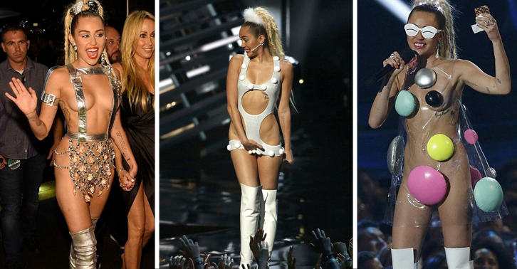 Miley Cyrus And MTV Blasted For Sexualisation And Celebration Of Drugs At VMAs UNILAD outfits5