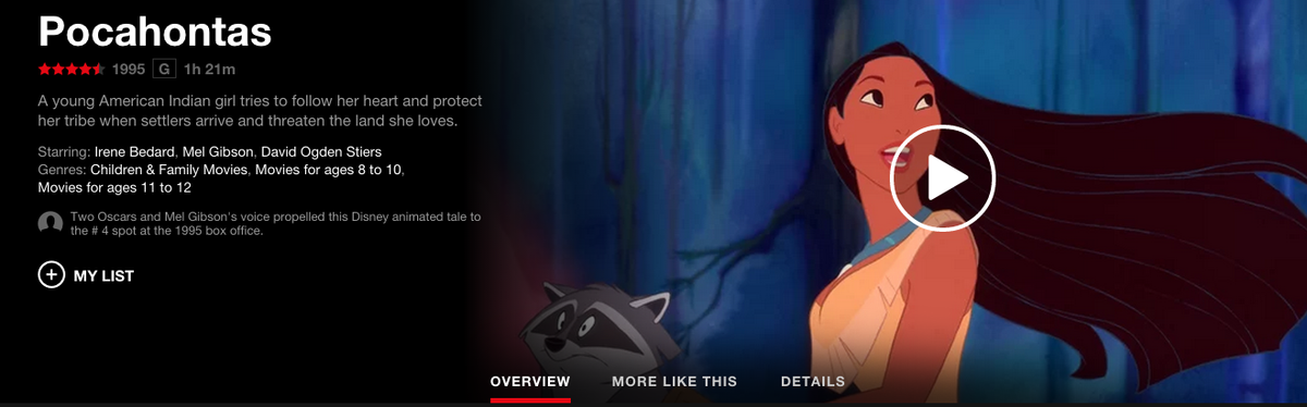 Netflix Changes Sexist Pocahontas Description After Online Backlash UNILAD pocahontas summary 16
