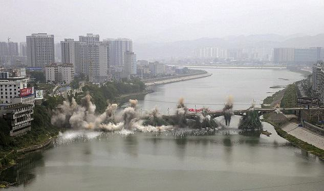 Awesome Moment Bridge In China Is Completely Demolished In THREE Seconds UNILAD reuters 22