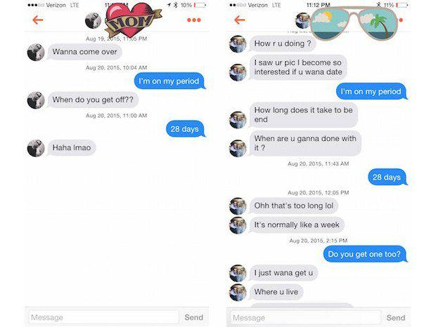 This Girl Told Tinder Matches She Was On Her Period, Responses Were Fascinating UNILAD tinder guy 27
