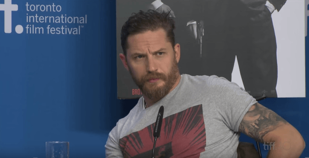 Tom Hardy Completely Shuts Down Reporter Who Asks About His Sexuality UNILAD tom hardy sexuality 16