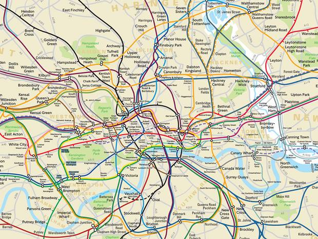 TfL Reveal A Secret Geographically Accurate Tube And Rail Map For London UNILAD tubemap7