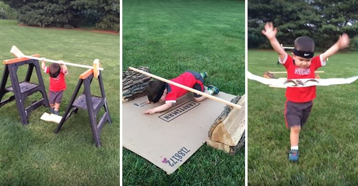This 3 Year Old Loves Ninja Warrior, So His Dad Built Him An Awesome Course UNILAD yoshi 22