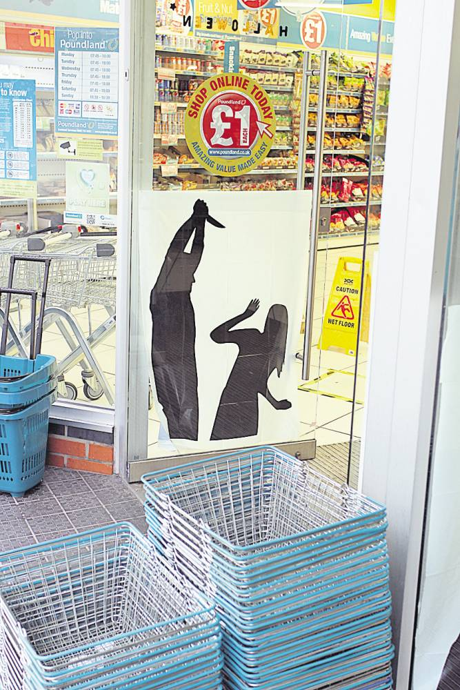 Poundland Remove Controversial Halloween Posters After Complaints They Depict Domestic Violence ad 182289256 cascade
