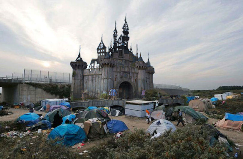 Banksys Dismaland Theme Park To Be Used As Refugee Shelter dismal calais1 810x530