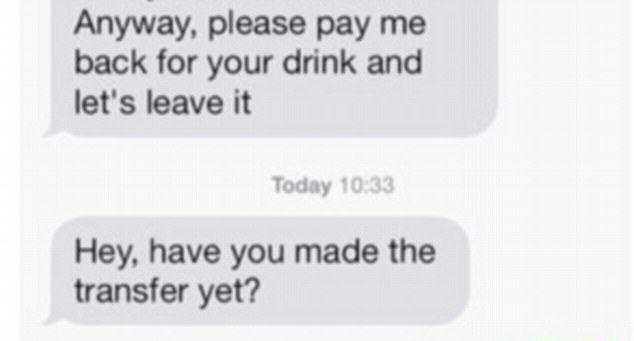 Guy Demands Woman Repays Him For Drink After She Rejects Second Date drink 5