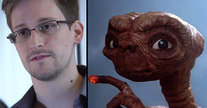 Whistleblower Edward Snowden Reckons Aliens Are Trying To Make Contact With Earth edward snowden aliens WEB 2