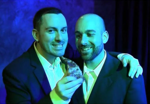 Badass Gay Couple Tricked Homophobic Pizzeria Into Catering Their Wedding gay fool homophobe WEB