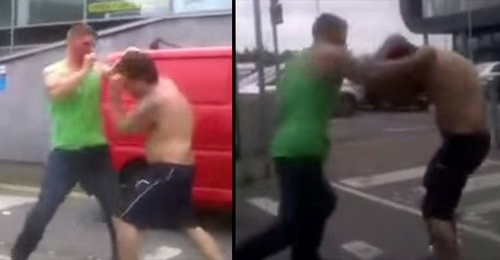Footage Of Two Men Having Brutal Fist Fight In Car Park Goes Viral irish fight FB
