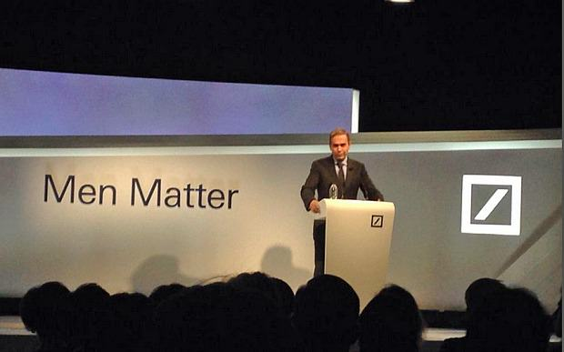 Bankers Hold Women's Rights Conference But Call Event 'Men Matter' men matter 1